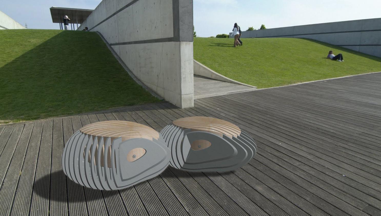 Mobilier urbain modulaire CANTO