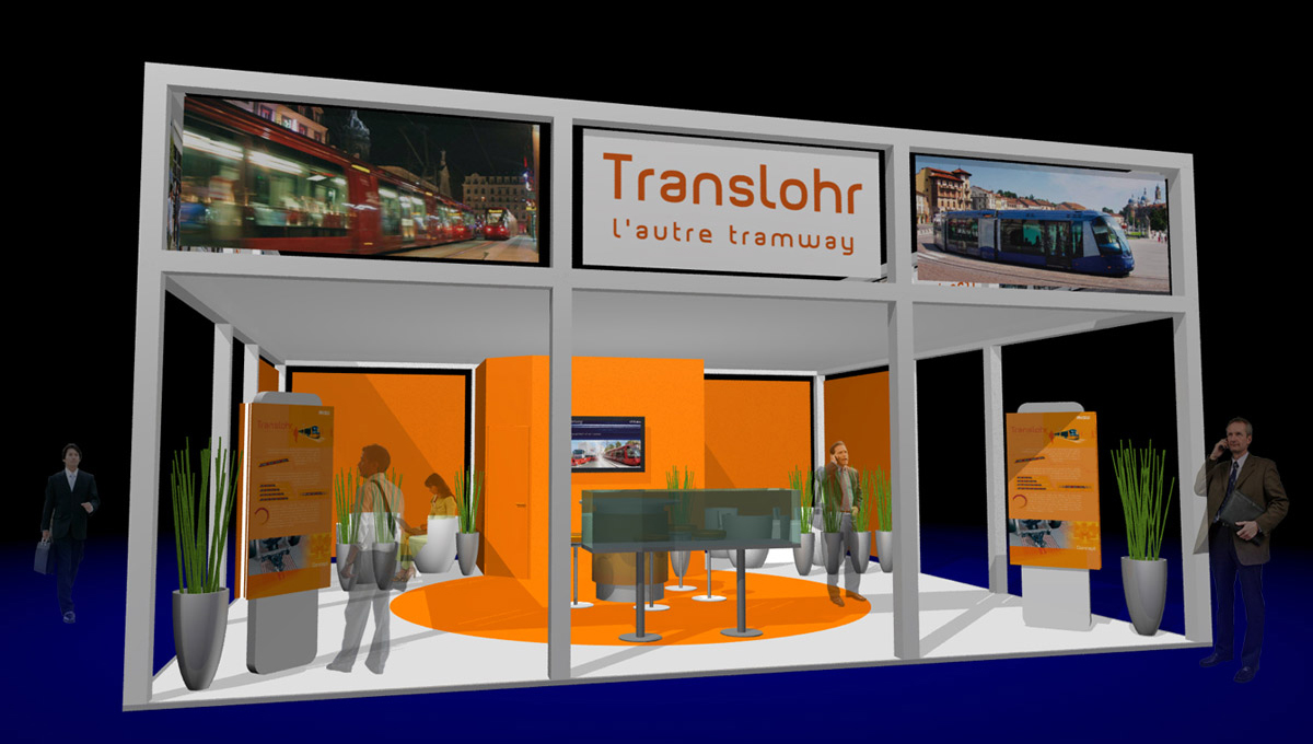 Stand d'exposition Translohr