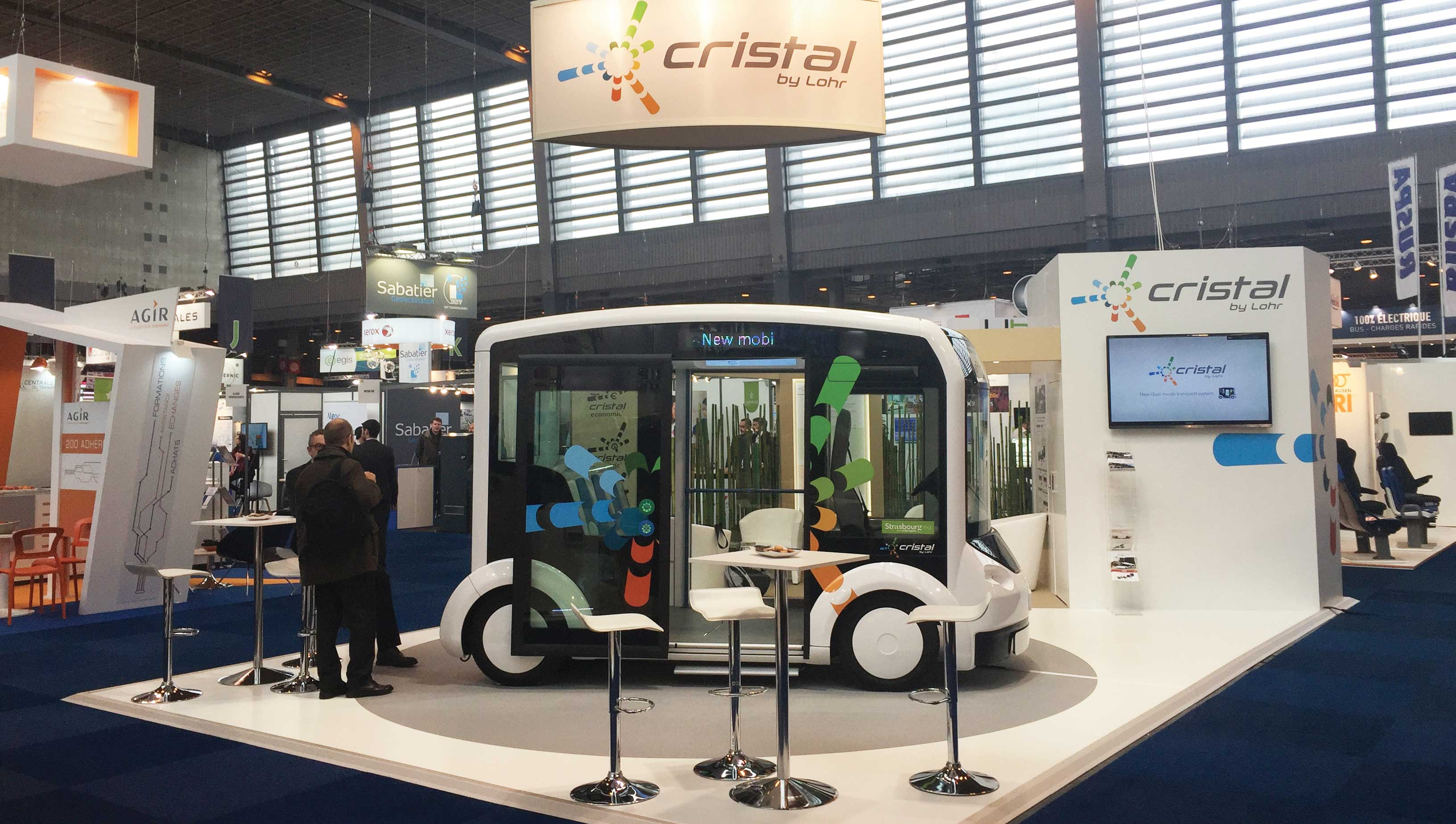 Stand d'exposition Cristal