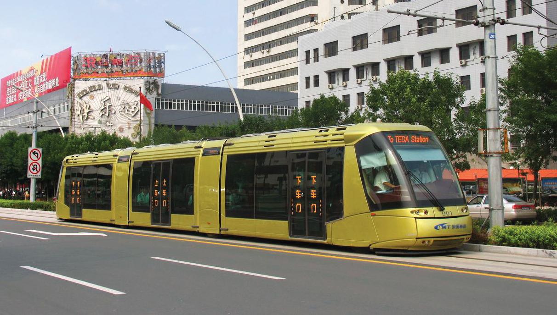 Tramway TRANSLOHR Tianjin-Teda