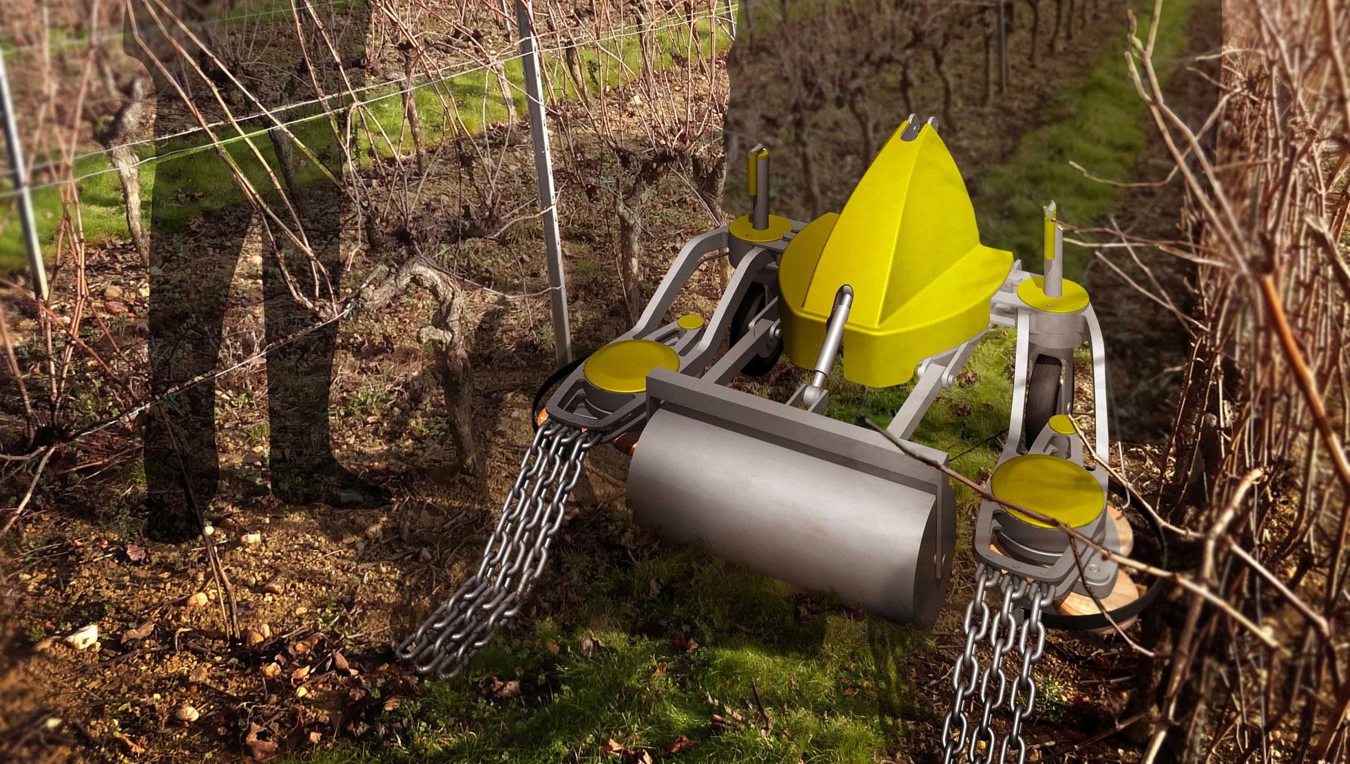 Equipement viticole de désherbage