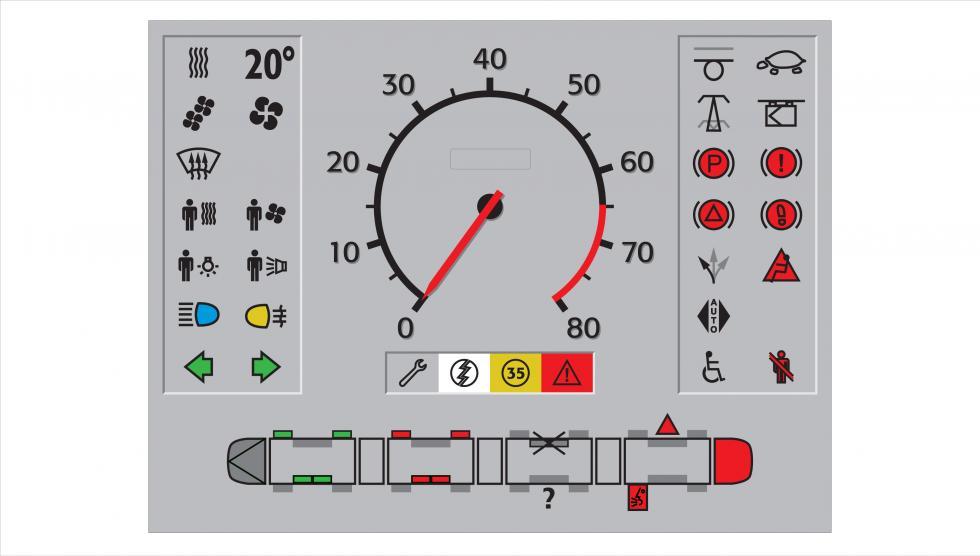 IHM Tramway Translohr - fenêtre d'écran principal